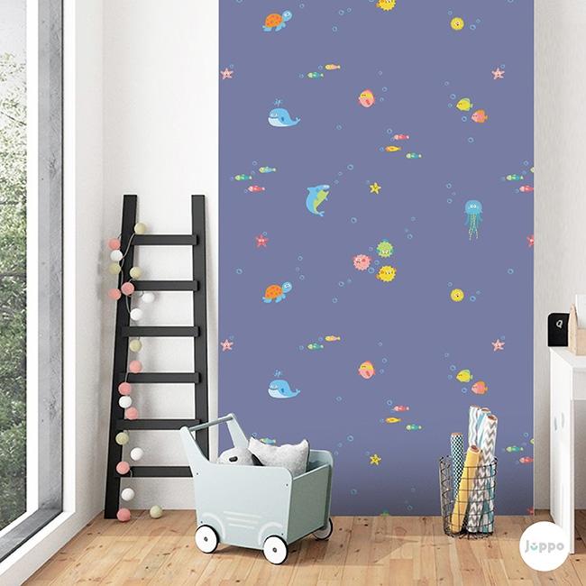 Renkli Su Dünyası Duvar Kağıdı - Mavi