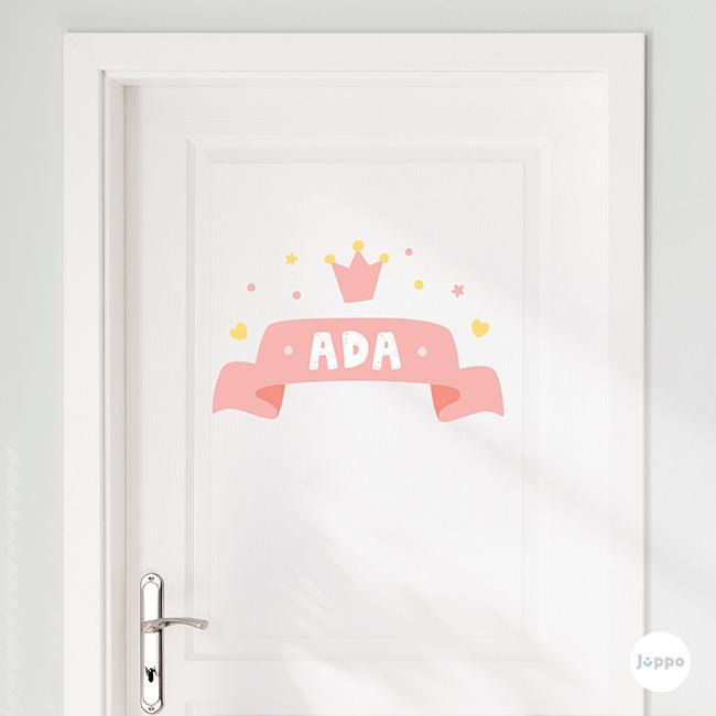 Prensesin Odası İsme Özel Duvar Sticker