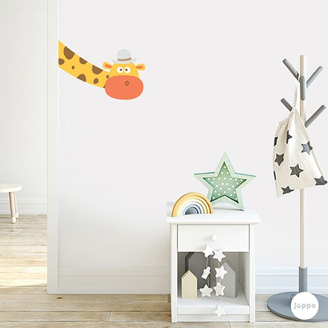 Odamdaki Zürafa Duvar Sticker