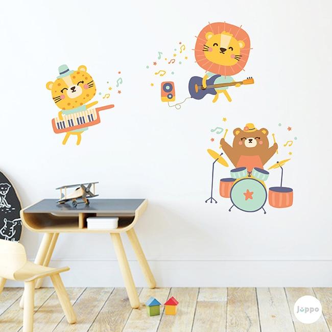 Çılgın Rockçılar Duvar Sticker