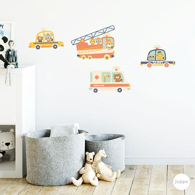 Acil Durum Araçları Duvar Sticker