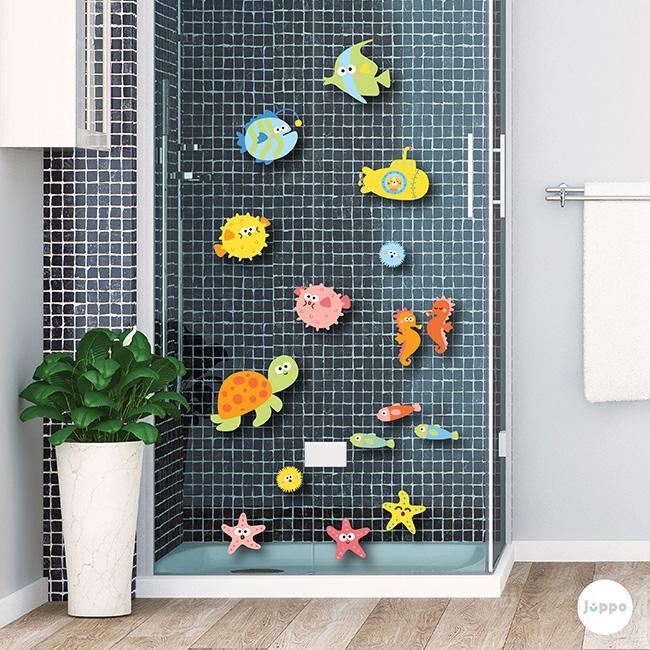Deniz Canlıları Banyo Seti Duvar Sticker