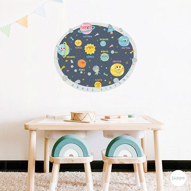 Güneş Sistemini Öğreniyorum Duvar Sticker