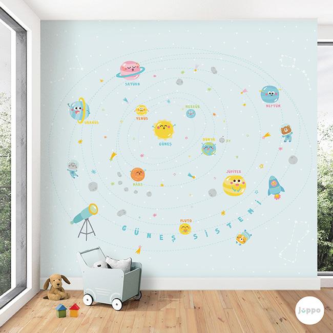 Güneş Sistemi Duvar Kağıdı Pano